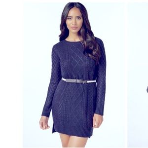 Cable knit sweater dress Size L